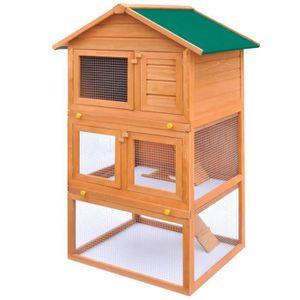 CLAPIER vidaXL Cage Clapier Extérieur en Bois pour Lapins