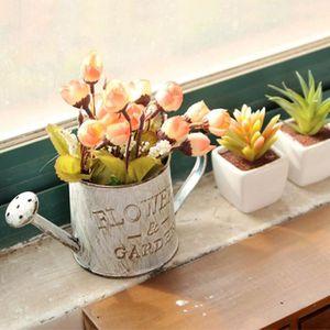 JARDINIÈRE - BAC A FLEUR Pot de Fleur Métal Vintage 2 en 1 Arrosoir en Fer