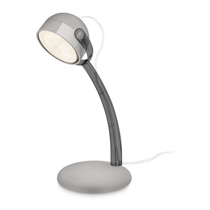 PHILIPS Lampe de table DYNA gris métal 1x4W