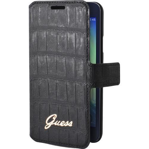 GUESS Etui à rabat pour Samsung Galaxy A3 - Effet croco - Noir