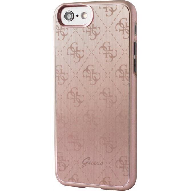 GUESS Coque rigide en aluminium - Pour iPhone 7 - Rose