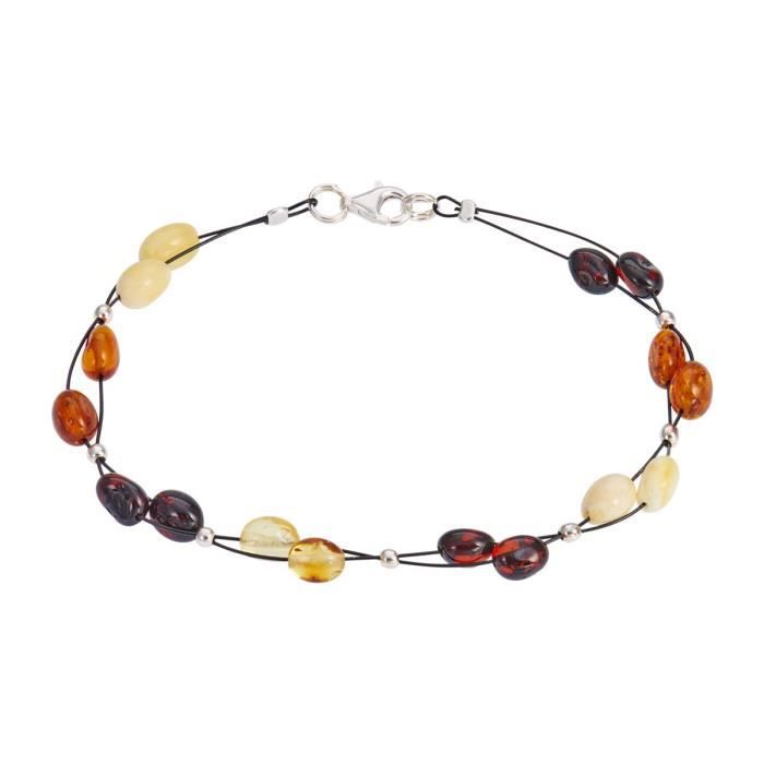 Bracelet CLEOR Argent 925/1000 Ambre - Taille : TU - Couleur : Autre