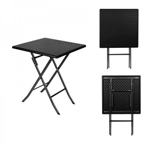 table d 39 appoint pliante carre interieur exterieur fa on. Black Bedroom Furniture Sets. Home Design Ideas