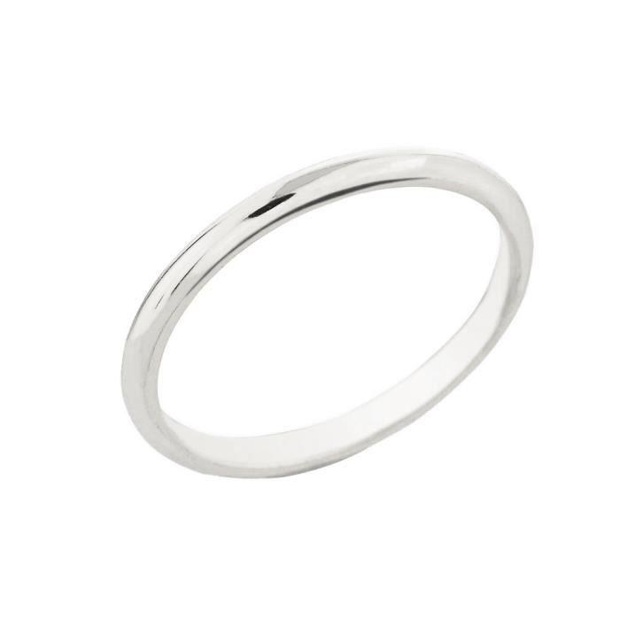 bague femme argent fin 925 1000 classique pouce 2mm blanc achat vente bague anneau femme. Black Bedroom Furniture Sets. Home Design Ideas