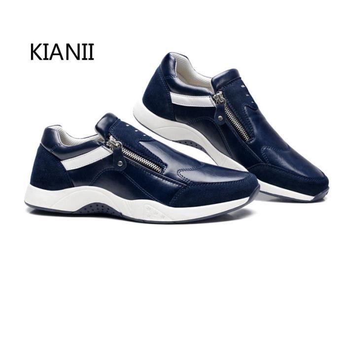 sport Bleu Homme Mocassins Baskets TP de Chaussures loafer zipper FtwP1US