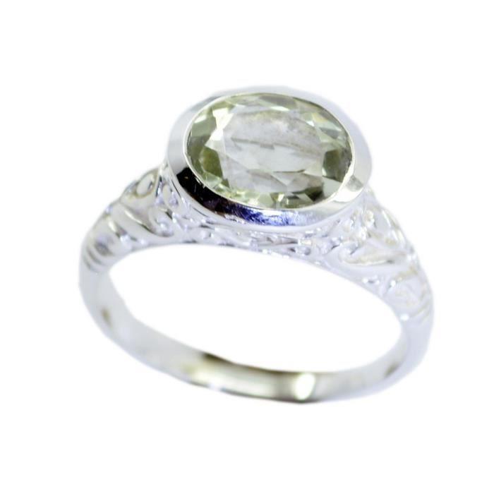 anneau vert améthyste - anneau vert - bague en argent - anneau dargent vert