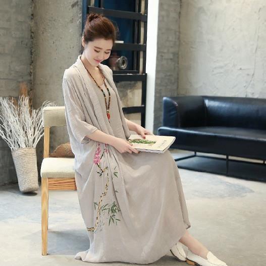 coton longs soirée vêtemen courtes deux court occasionnelles maxi femmes de manches dété linge 2017 plus élégantes pièces faux robe wTpYHUq