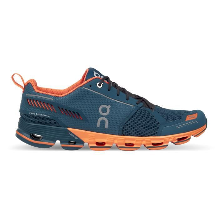 competitive price 747f6 348f9 ON - Cloudflyer - Chaussures de course - Blue pétrole - Homme réf 000011  M Storm-Flash4417 13
