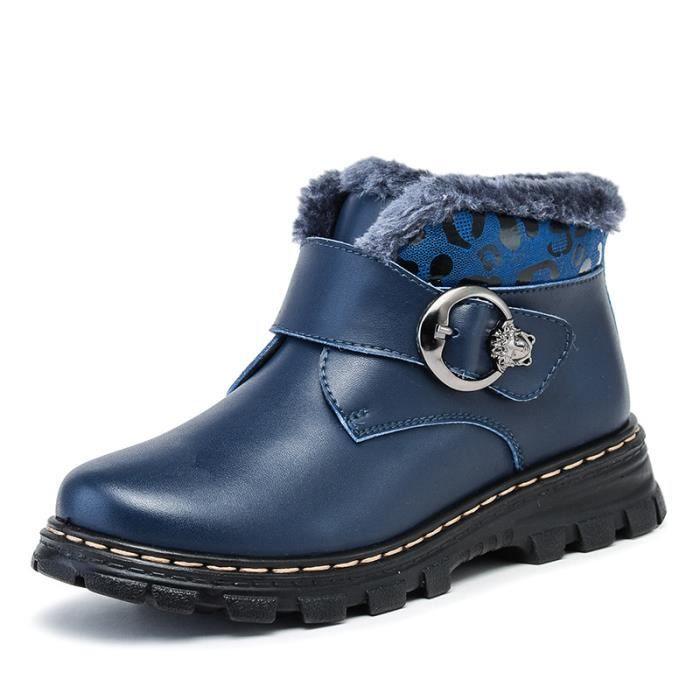 2017 nouvelles chaussures d'injection chaussures hiver coton chaussures garçons Martin bottes en cuir plus velours chaud chaussures KHOY9x4o8T