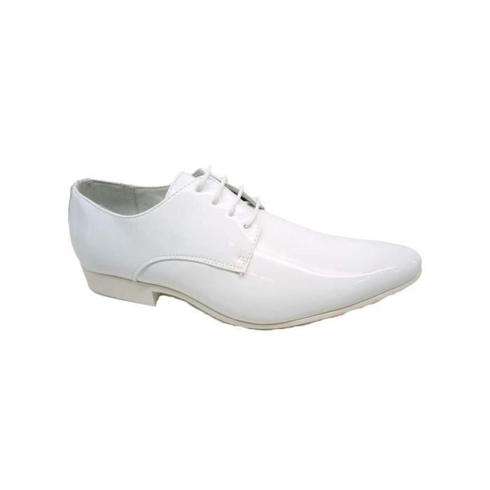 DERBY Chaussure ville homme blanc vernis Galax
