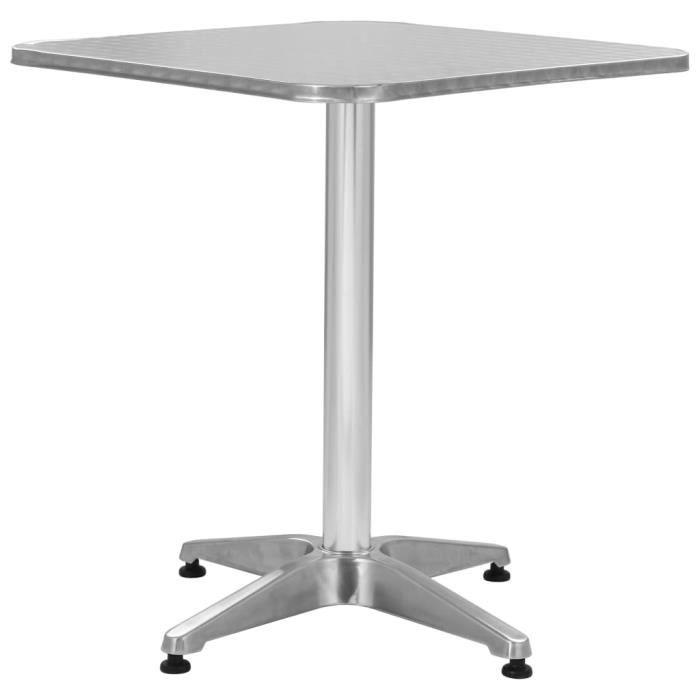 De Carrée 70 Cm Vidaxl 60 Table Aluminium Jardin X WEH92YIeDb