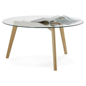Table basse salon ronde achat vente pas cher - Table de salon ronde en verre ...