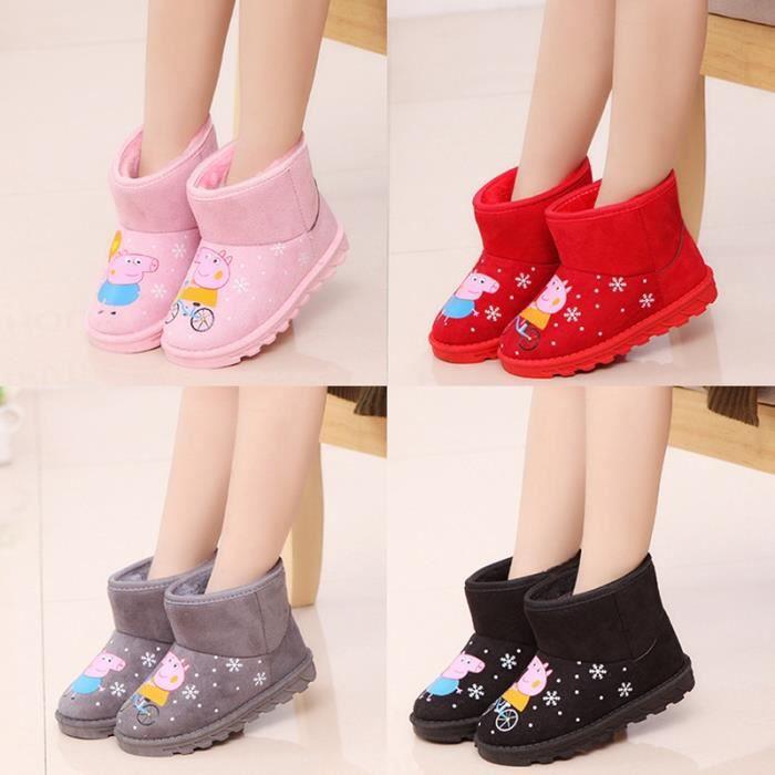 Bottes pour enfants, 2018, automne, hiver, nouveau style, bottes de coton, bottes de neige, peluche, confortable, bottes courtes
