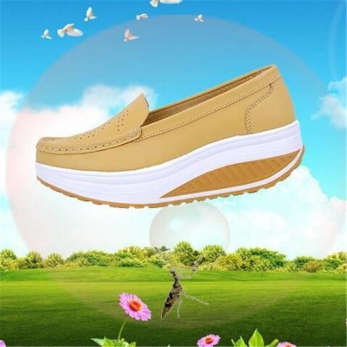 Chaussures Femmes Printemps ete Plate-Forme Chaussures LLT-XZ058Noir36 yKh58EJ0mh