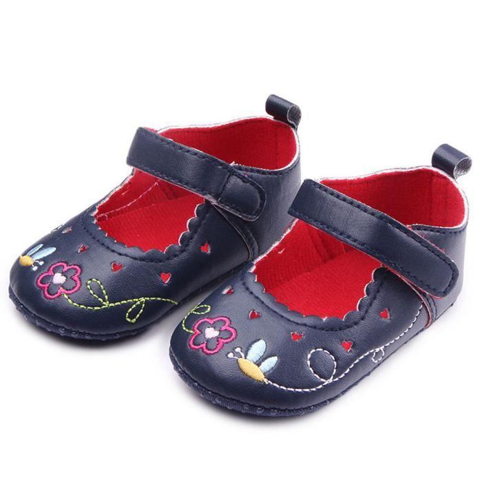 BOTTE Bébé nouveau-né bébé Floral Print Sneaker antidérapant doux Sole Toddler Chaussures@NoirHM s9Wgzbp
