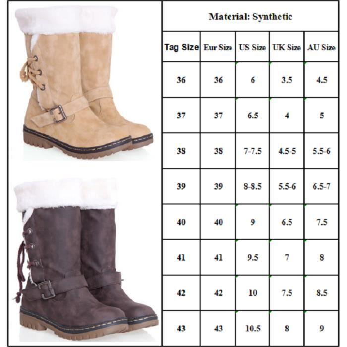 Femme Bottine Boots Jaune Peluche Classique Hiver d4Rx4qr