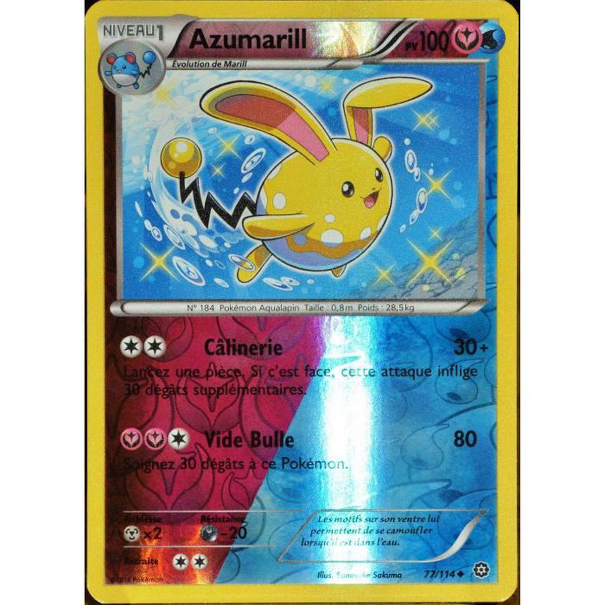 Carte pok mon 77 114 azumarill shiny 100 pv reverse xy offensive vapeur achat vente - Carte pokemon fee ...