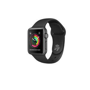 MONTRE CONNECTÉE Apple Watch 38mm Gris W- noir Sport Band (022) mon
