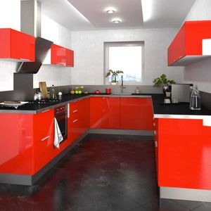 CUISINE COMPLÈTE Cuisine Type 11 - 325cm - 260cm - 325cm - Rouge -