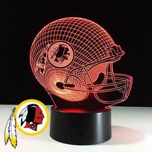 OBJETS LUMINEUX DÉCO  3D Nuit Lumière Lampe Acrylique NFL NFC Washington