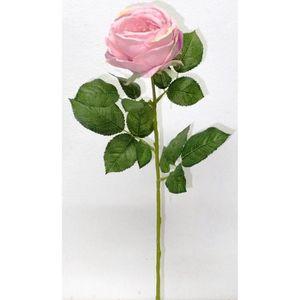 FLEUR ARTIFICIELLE Tige de Rose artificielle romance - Rose vieilli -