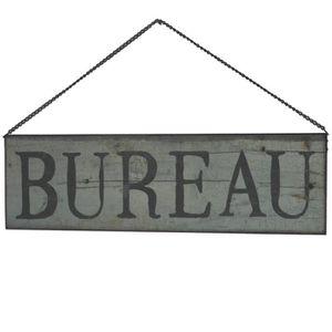 OBJET DÉCORATION MURALE Plaque Enseigne de Porte Bureau Vert 50 cm x 15 cm