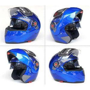 CASQUE MOTO SCOOTER BLeu M-XXL casques de moto anti-poussière 02