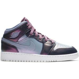 65832cd23046 CHAUSSURES BASKET-BALL Chaussure de Basket Air Jordan 1 Mid (GS) violette