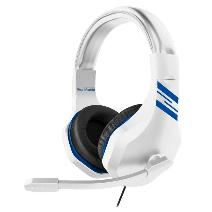 Casque Gaming Pro League Real Madrid pour PS4, Xbox One et PC