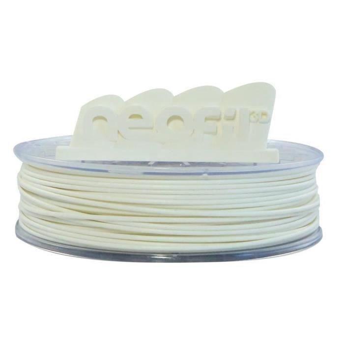 NEOFIL3D Filament pour Imprimante 3D PC-ABS - Blanc - 1,75 mm - 750g