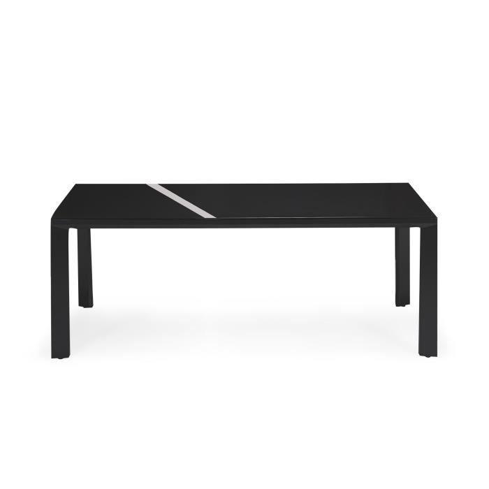 Black Table de jardin en aluminium et verre trempé - Noir - Achat ...