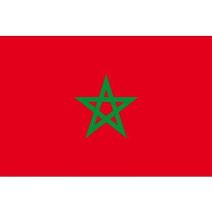 Drapeau maroc 90x150cm prix pas cher cdiscount - Drapeau du maroc a imprimer ...