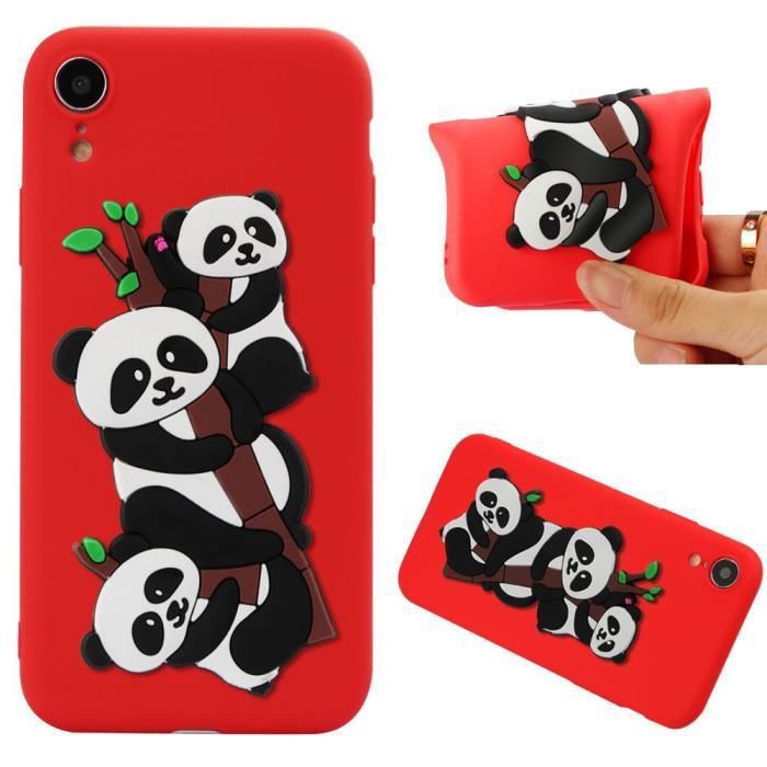 coque iphone xr silicone rouge