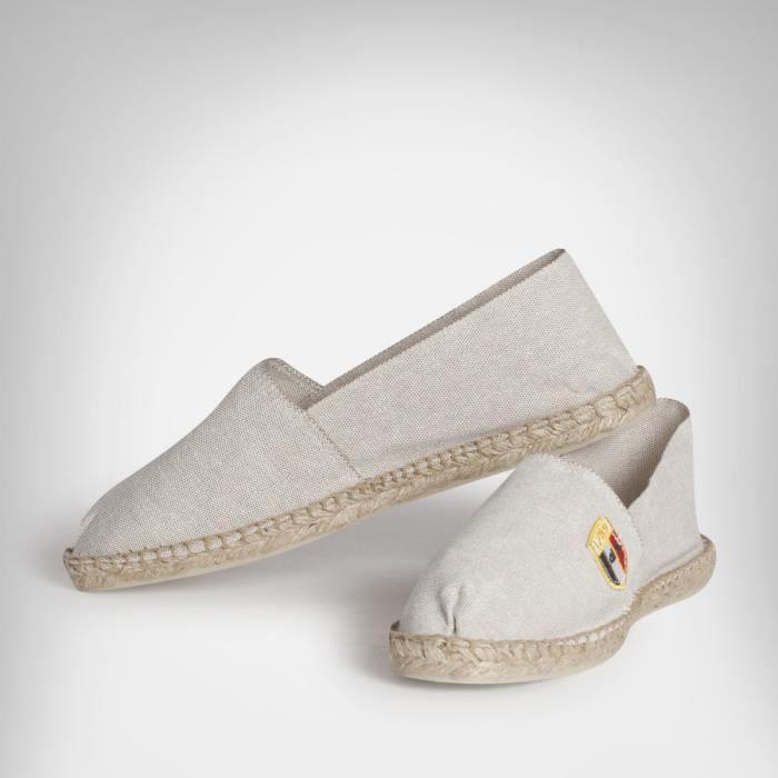 Chaussures de plage espadrilles unisexe gris beige