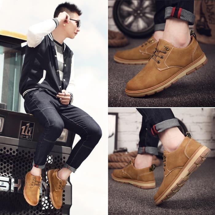 taille41 Homme Summer marron coréenne de plates skate hommes Style Skateshoes OqFnRF