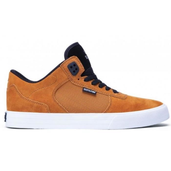 SUPRA Skateboard Shoes Ellington Vulc Cathayspice Black White [45]