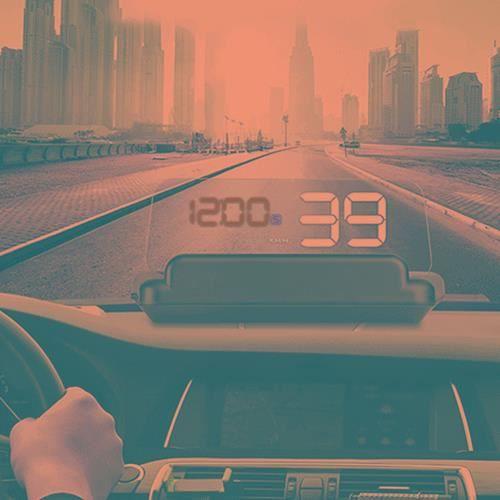AFFICHAGE PARE-BRISE Affichage tête haute Voiture GPS HUD Virtual HD Re