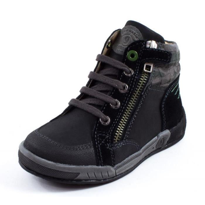 Garvalin Boots noir cuir 151583A