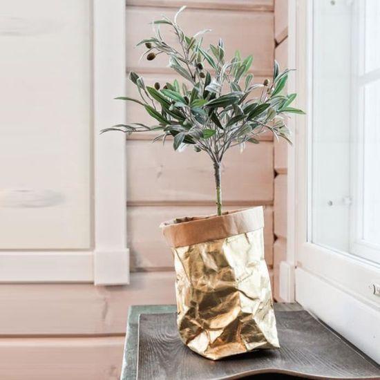 df22189b333b Sac de papier kraft lavable fleurs plantes Pots multifonction sac de  rangement à la maison - Achat   Vente organisateur de tiroir Sac de papier  kraft ...