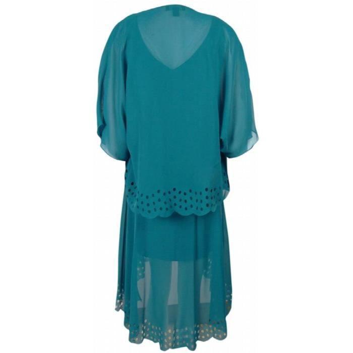 S.l. Fashions Robe mousseline perforée pour femme JXOMS