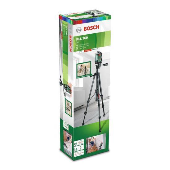 3201db734b1f9 BOSCH Niveau laser 360° PLL 360 + trépied - Achat / Vente télémètre - laser  Niveau laser 360° PLL 360 - Cdiscount