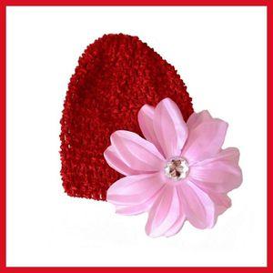 f1e053b4a35 Rouge - Rose Bonnet + fleur tropicale bébé 0 à 18 mois Rose - Achat ...