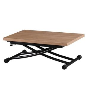 TABLE BASSE Table relevable Emy - Bois clair