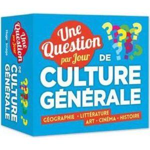 LIVRE JEUX ACTIVITÉS Livre - une question de culture générale par jour