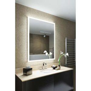 miroir salle de bain avec prise rasoir led achat vente pas cher. Black Bedroom Furniture Sets. Home Design Ideas