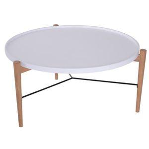 TABLE BASSE Table basse ronde design scandinave Ø 90 x 45H cm