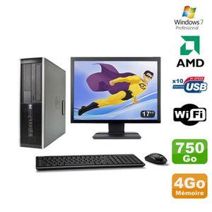 UNITÉ CENTRALE + ÉCRAN Lot PC HP Compaq 6005 Pro SFF AMD 3GHz 4Go 750Go G