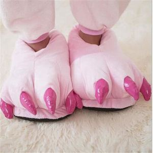 Chaussons Femmes Couleur unie 2018 Hive Warm Soft Slippers Série Couple Paw Animal Monster Dinosaur Claw Chausson Taille 35-45 b7PmuTYDCW