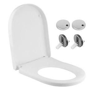 ABATTANT WC Forme-U Abattant WC taupe avec frein de chute inté