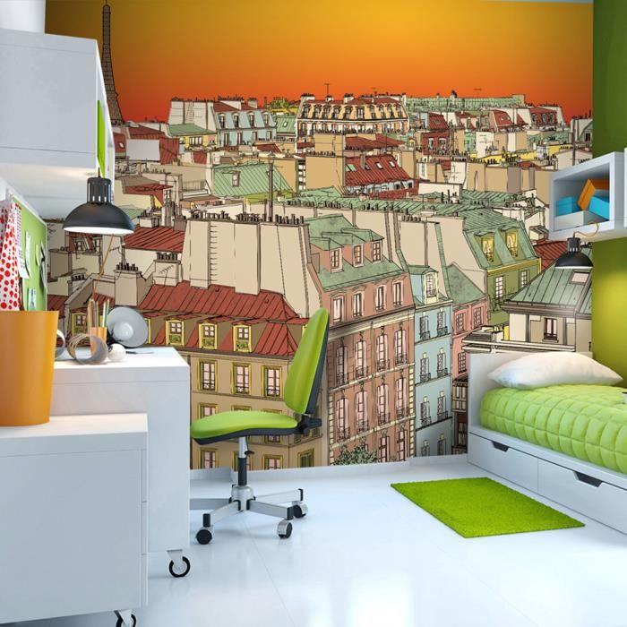 Papier peint - Un soir à Paris insolite - 400x309cm - Achat / Vente ...